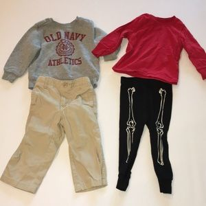 Old Navy Lot Of 4 boys 18-24m shirts pants